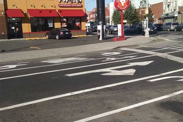 Knickerbocker Avenue's Controversial Bike Lane Is Finally in Place! — Community on Bushwick Daily