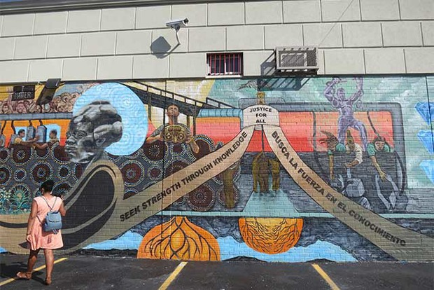 A Beautiful New Mural by Local Teens is Finished on Broadway — Arts & Culture on Bushwick Daily