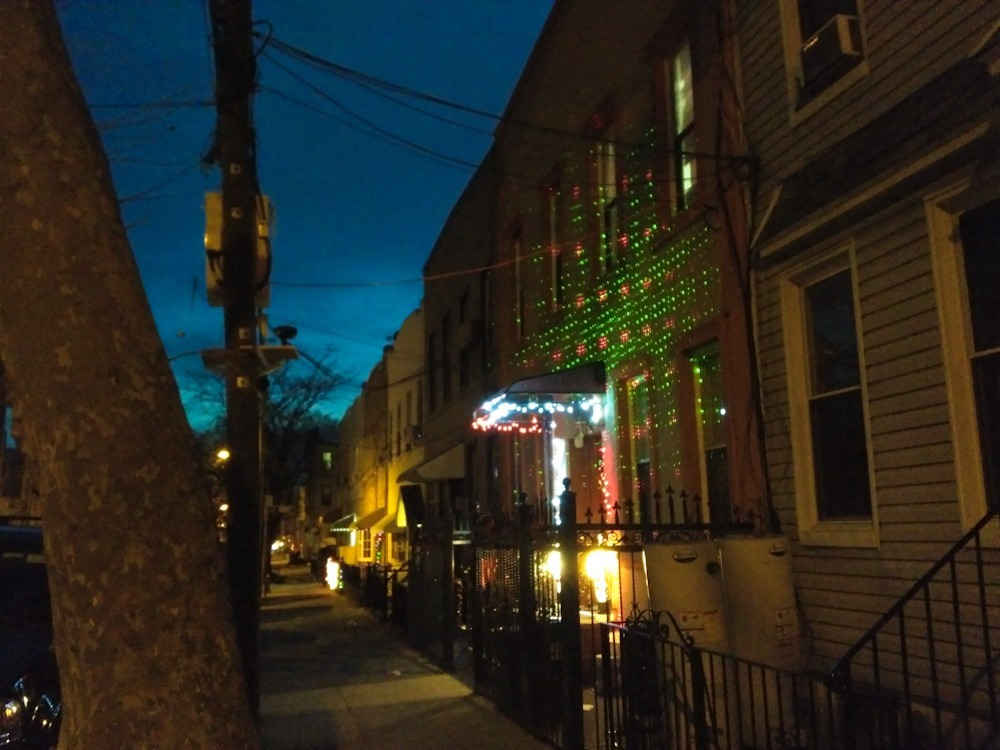 Bushwick & Ridgewood Succumb to a Holiday Laser Light Shower Craze — Community on Bushwick Daily