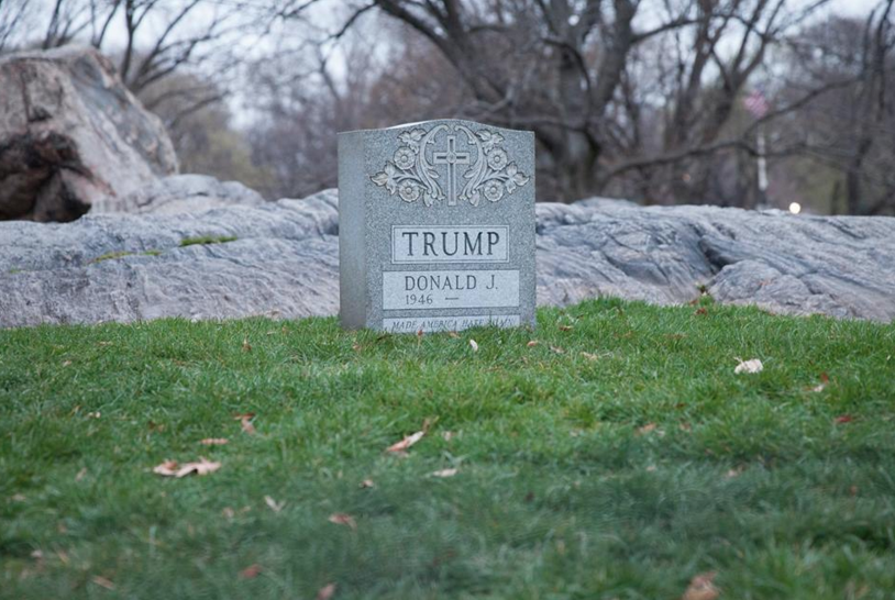 Viral Trump Tombstone Has Arrived in Bushwick: Go See It Tonight  — Arts & Culture on Bushwick Daily