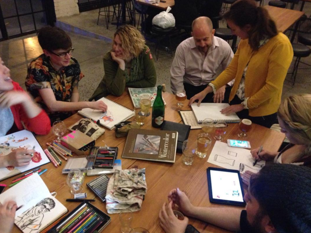 Drink & Draw at KCBC Is the Adult Doodling Session You've Been Waiting For — Arts & Culture on Bushwick Daily
