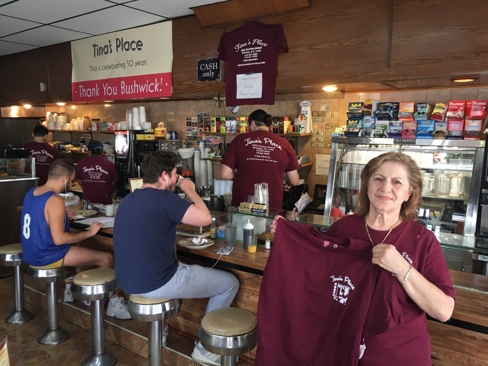 Tina's Novelty T-Shirts Are Selling Like Hotcakes at Beloved Bushwick Diner — Business on Bushwick Daily