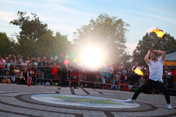 The Floasis Brought Fire and a Dose of Danger to Maria Hernandez Park — Arts & Culture on Bushwick Daily