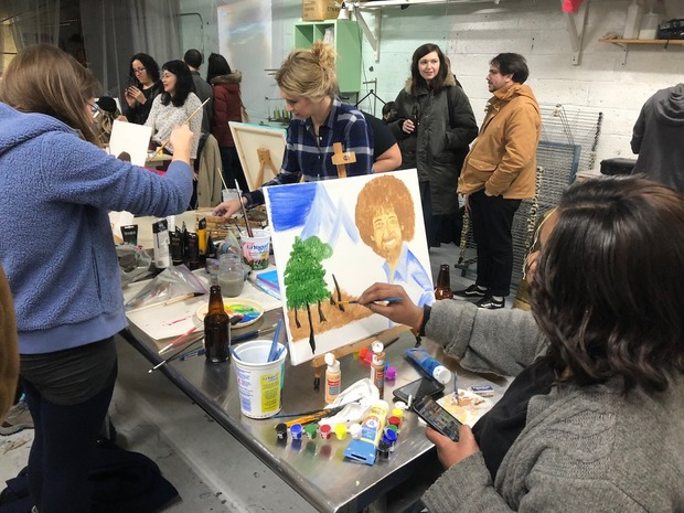 Here's How Bushwick Artists See Bob Ross, the Painting Legend From TV — Arts & Culture on Bushwick Daily