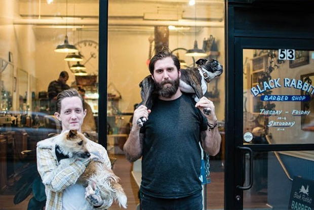 Haircuts, Leather, Whiskey and Dogs Await at Bushwick Based Black Rabbit Barbershop — Bushwick on Bushwick Daily