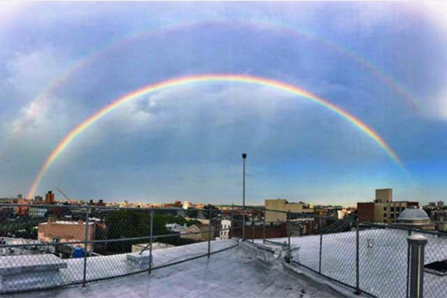 Photos: Our Favorite Instagram Pix of Yesterday Evening's Breathtaking Double Rainbow Over Bushwick — Community on Bushwick Daily