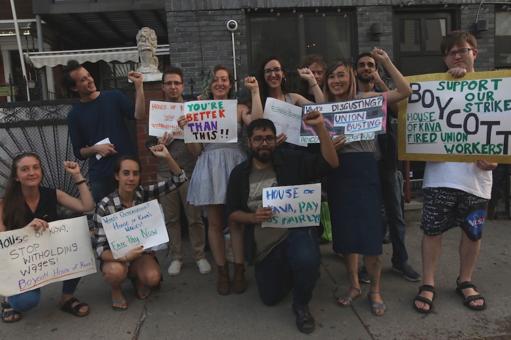 Why Former House of Kava Workers Organized and Protested This Summer  — News on Bushwick Daily