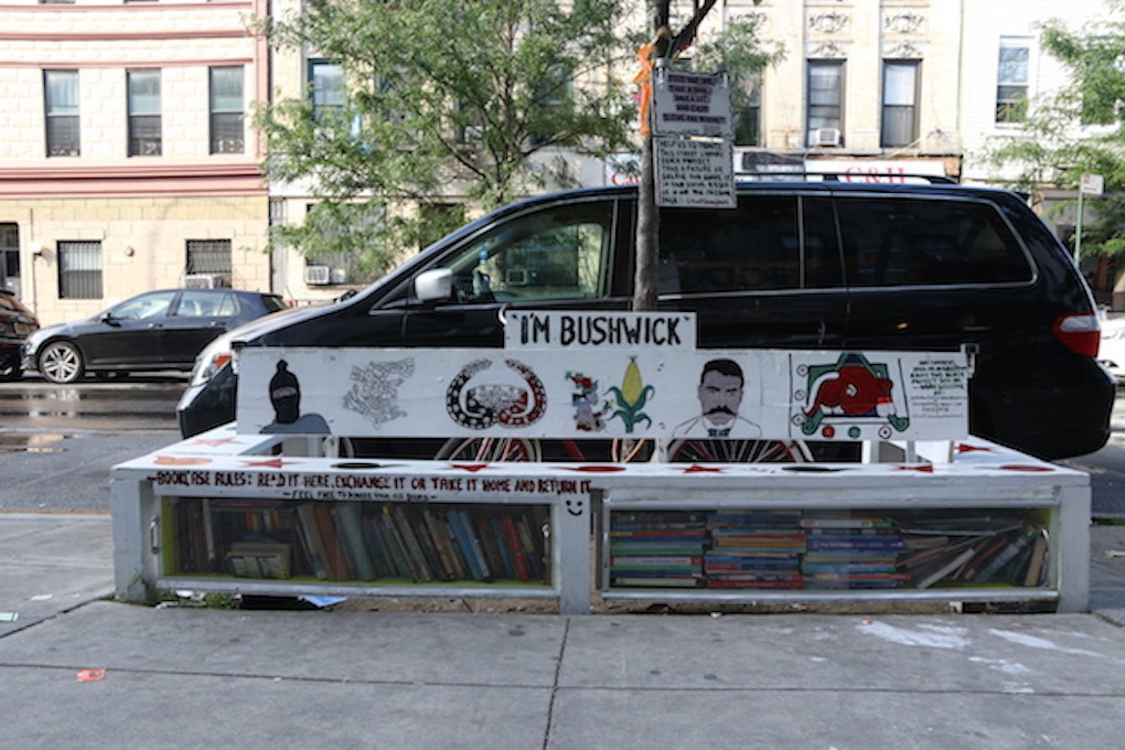 Longtime Local Creates Small Community Library on Knickerbocker Avenue  — Community on Bushwick Daily