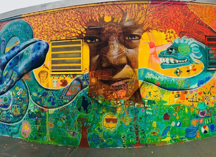 A Vibrant New Mural in Bushwick Aims to Connect Us to the Earth — Arts & Culture on Bushwick Daily