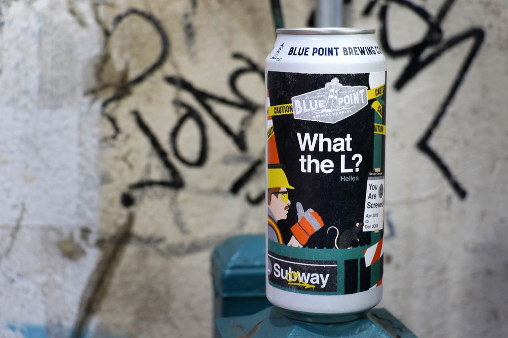 Blue Point Brewery's New Lager is Inspired By L Train Chaos — News on Bushwick Daily