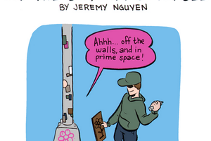 The Life of Street Art at the Bottom of a Pole [Comic]