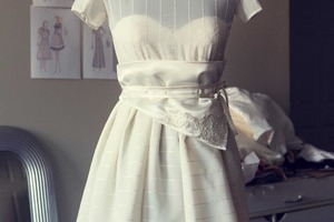 Dress for a Bushwick Bride: Eco-Vintage Wedding Style by ONB2
