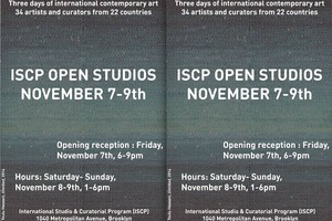 2014 Open Studios is Not Over Yet – ISCP Fall Open Studios is this Weekend