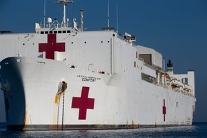 Floating hospital headed for New York Harbor