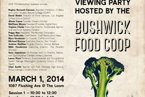 Bushwick Food Coop Hosts TEDxManhattan Viewing Party This Saturday!