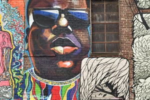 Street Art Candy: The Notorious B.I.G. by Danielle Mastrion