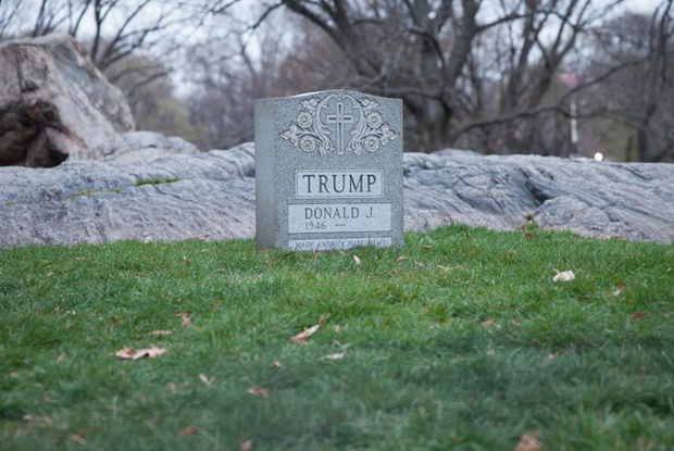 Viral Trump Tombstone Has Arrived in Bushwick: Go See It Tonight