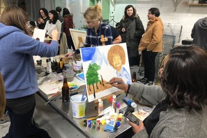 Here's How Bushwick Artists See Bob Ross, the Painting Legend From TV