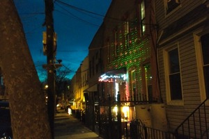 Bushwick & Ridgewood Succumb to a Holiday Laser Light Shower Craze