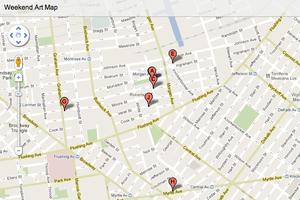 Weekend Art Map of 10 Openings