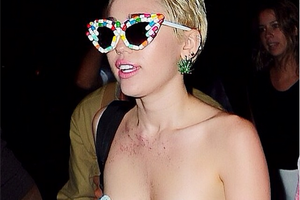 Miley Cyrus Raved in Bushwick Topless This Past Weekend