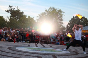 The Floasis Brought Fire and a Dose of Danger to Maria Hernandez Park