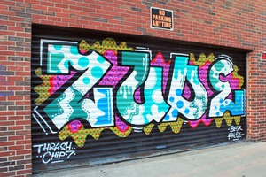 'Bushwick' Lettering on Vandervoort Place is Gone, 'Zude' Takes its Place