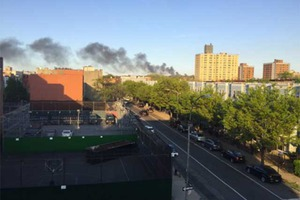 Breaking: Smoke Over Bushwick as FDNY Fights 5 Alarm Cypress Hills Blaze
