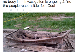 Cops Found a Recently Unearthed Casket with No Body in it in Bushwick