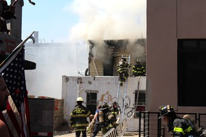 Fire is Still in Progress Since Yesterday on Troutman St in Bushwick