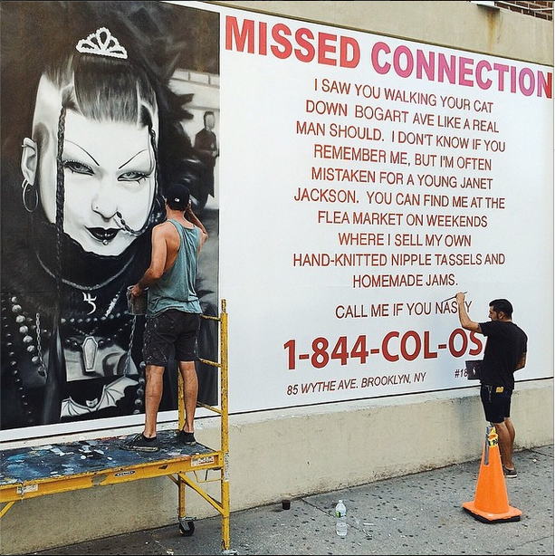 Call Me If You Nasty: Fake Missed Connection Ad on Bogart