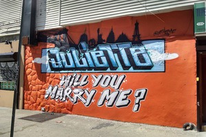 """Juliette, Will you Marry Me?"" A Wedding Proposal Via Bushwick Street Art"