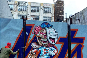 A NY Mets Mural by L'Amour Suprim Is Coming up at The Bushwick Collective
