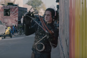 Where Are They Now? Edward Scissorhands Rides a Longboard in Bushwick [Video]