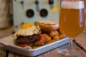 The $9 Burger & Beer Special at Lantern Hall Can't Be Beat