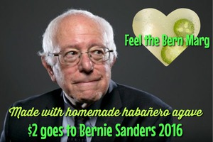 Try Our Wicked Lady's Feel The Bern Margarita While Contributing to the Bernie Sanders Campaign!