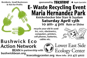 Recycle Your E-Waste in Maria Hernandez Park Next Saturday, April 13th!