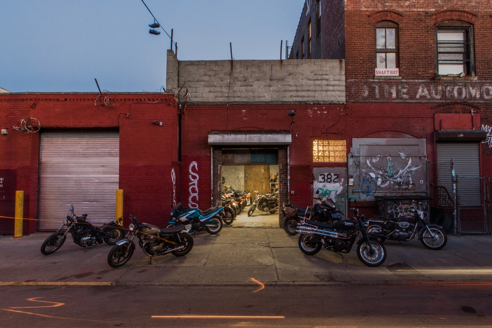 Roll up brooklyn new motorcycle garage is opening in for Garage mc moissy