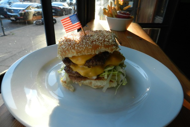 An Homage to McDonald's at Clara's Wins Best Neighborhood Burger