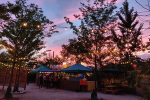 Nowadays Is Re-Opening their Seasonal Beer Garden with Hammocks, an Ice Cream Stand, and Weekly BBQs