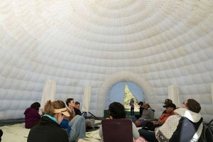 Have You Seen This Spatial Sound Artist's 16-Foot-Tall Igloo?