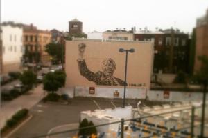 Giant Nelson Mandela Mural Appears Overnight, Transforming White Castle Parking Lot