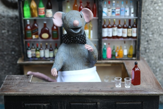 "A Bushwick Artist Is Giving Rats a Place to Wet Their Whiskers at ""Squeakeasies"""