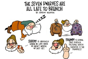The Seven Dwarves Are Late To Brunch [Comic]