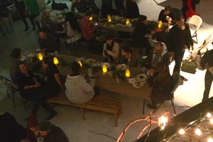Revelers At Winter Solstice Feast Eat, Drink, and Be Merry, Celebrating Food and Community