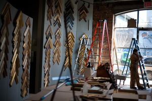 Quebracho Now Framing the Greatest Art in the History in Bushwick