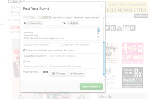 Posting Your Events in the Events Calendar! It's Easy!