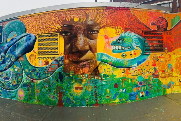 A Vibrant New Mural in Bushwick Aims to Connect Us to the Earth