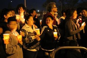 Photos: Officials Hold Ecuador Earthquake Vigil at Maria Hernandez Park