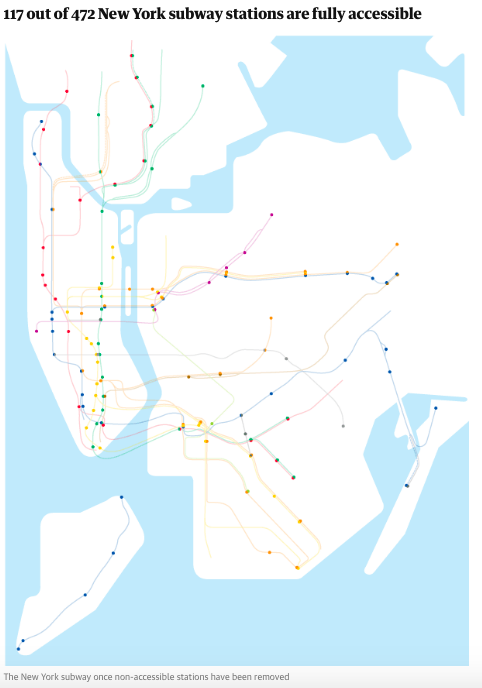 Nyc Subway Map Disabled Access.Only 5 Stations Are Handicap Accessible On The J Z M And L Lines In